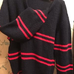 Black two red stripe Sweatshirt